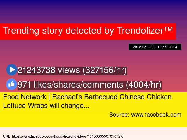 Food Network Rachael039s Barbecued Chinese Chicken Lettuce