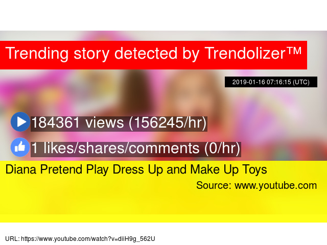 8635ac8fac665 Diana Pretend Play Dress Up and Make Up Toys - Stats
