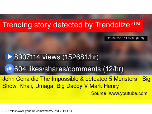 John Cena Did The Impossible Defeated 5 Monsters Big