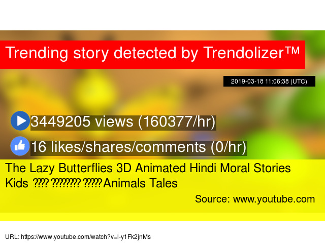 The Lazy Butterflies 3D Animated Hindi Moral Stories Kids