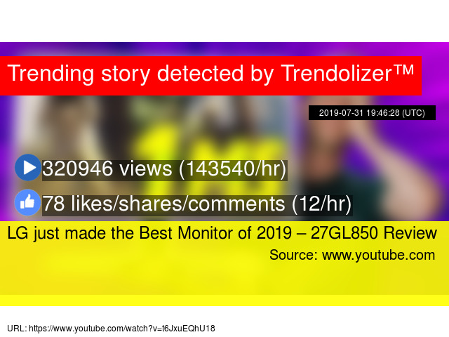 LG just made the Best Monitor of 2019 – 27GL850 Review
