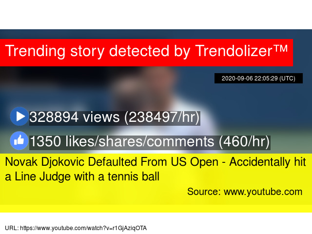 Novak Djokovic Defaulted From Us Open Accidentally Hit A Line Judge With A Tennis Ball