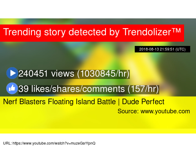 nerf blasters floating island battle dude perfect