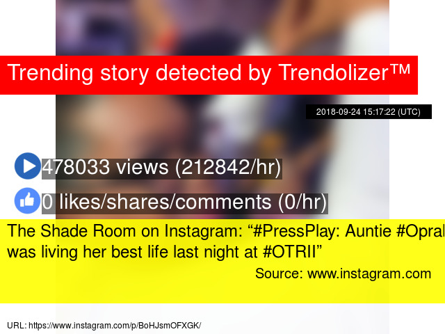 "The Shade Room on Instagram: ""#PressPlay: Auntie #Oprah was"